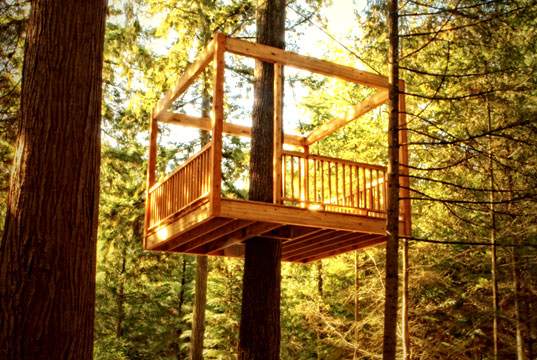 Tree houses for your spouses hommemaker for Tree house deck plans